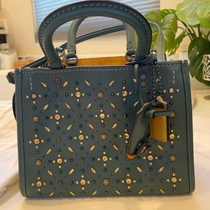 COACH ROGUE 25 WITH PRAIRIE RIVETS -Dark Turquoise